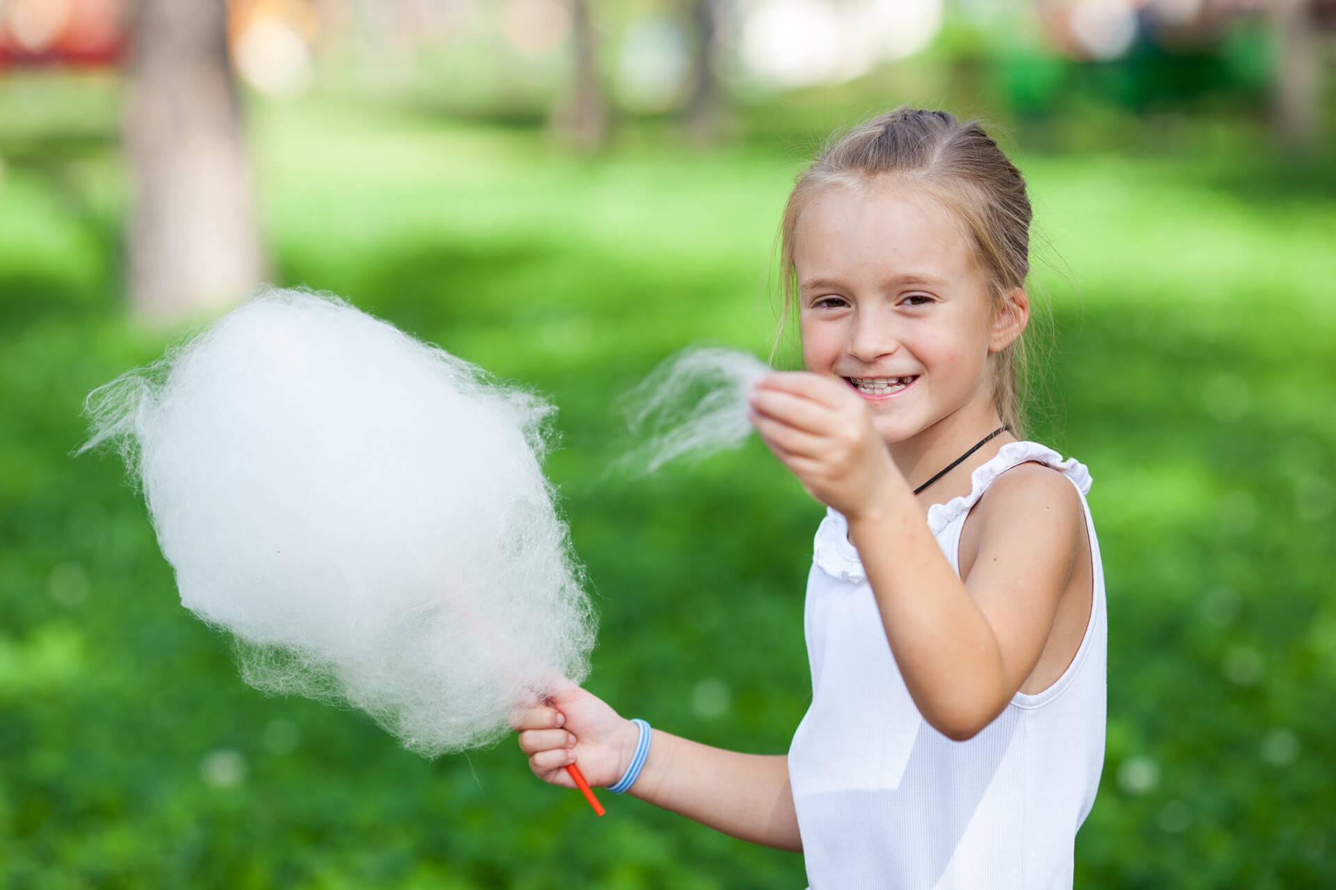 Zucchero filato in una festa per bambini