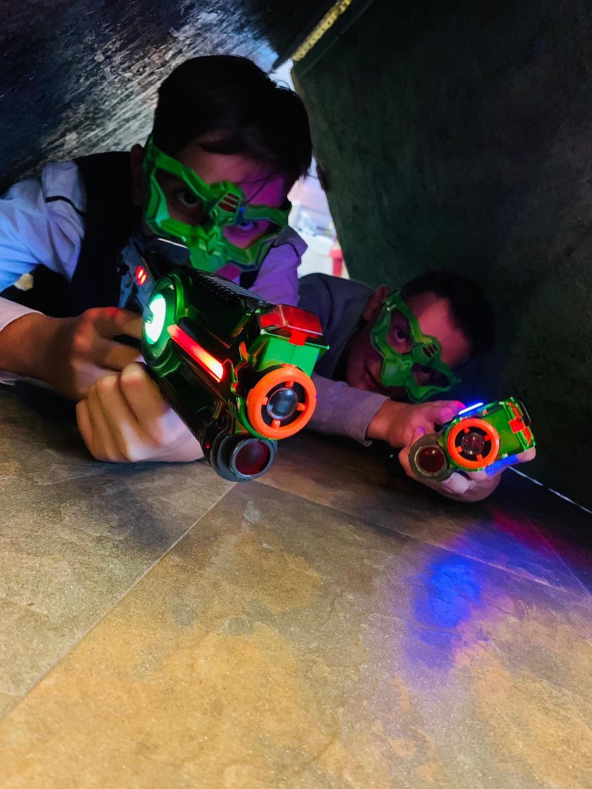 Festa a tema Laser Game